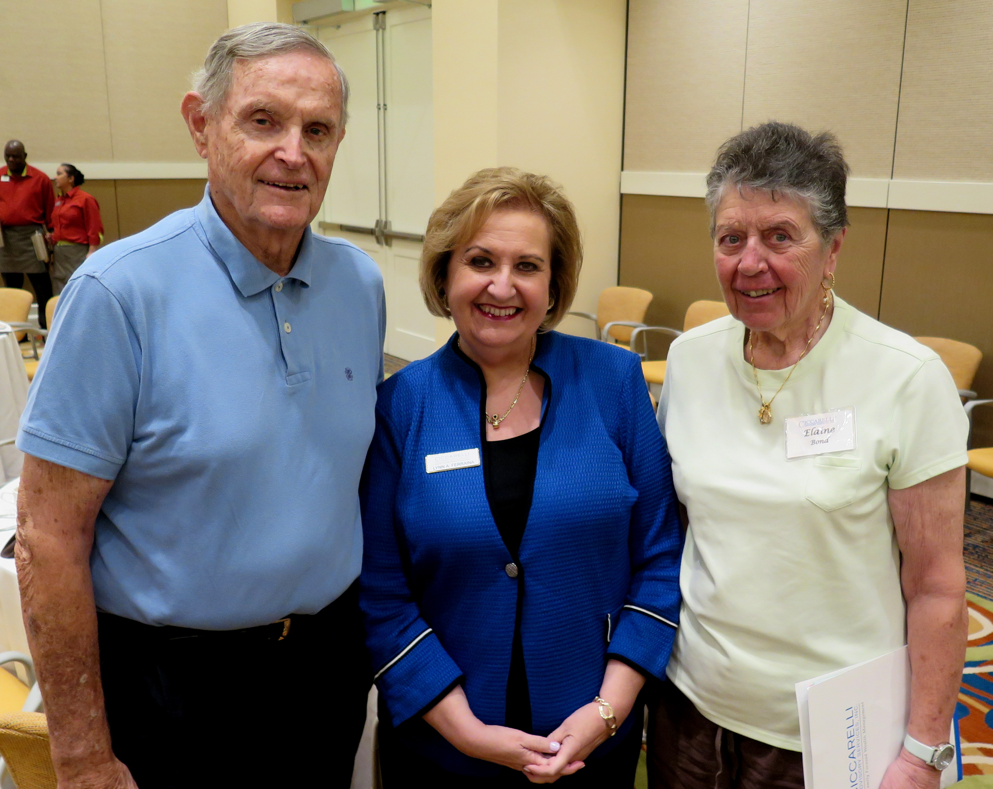 Bill Bond, Lynn Ferraina, Elaine Bond