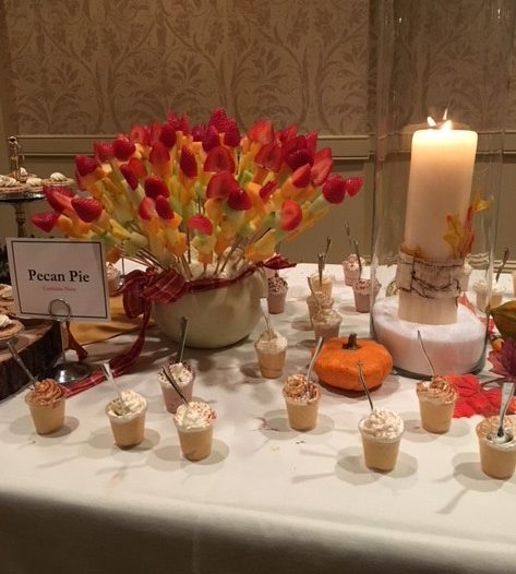 Our delicious spread of desserts