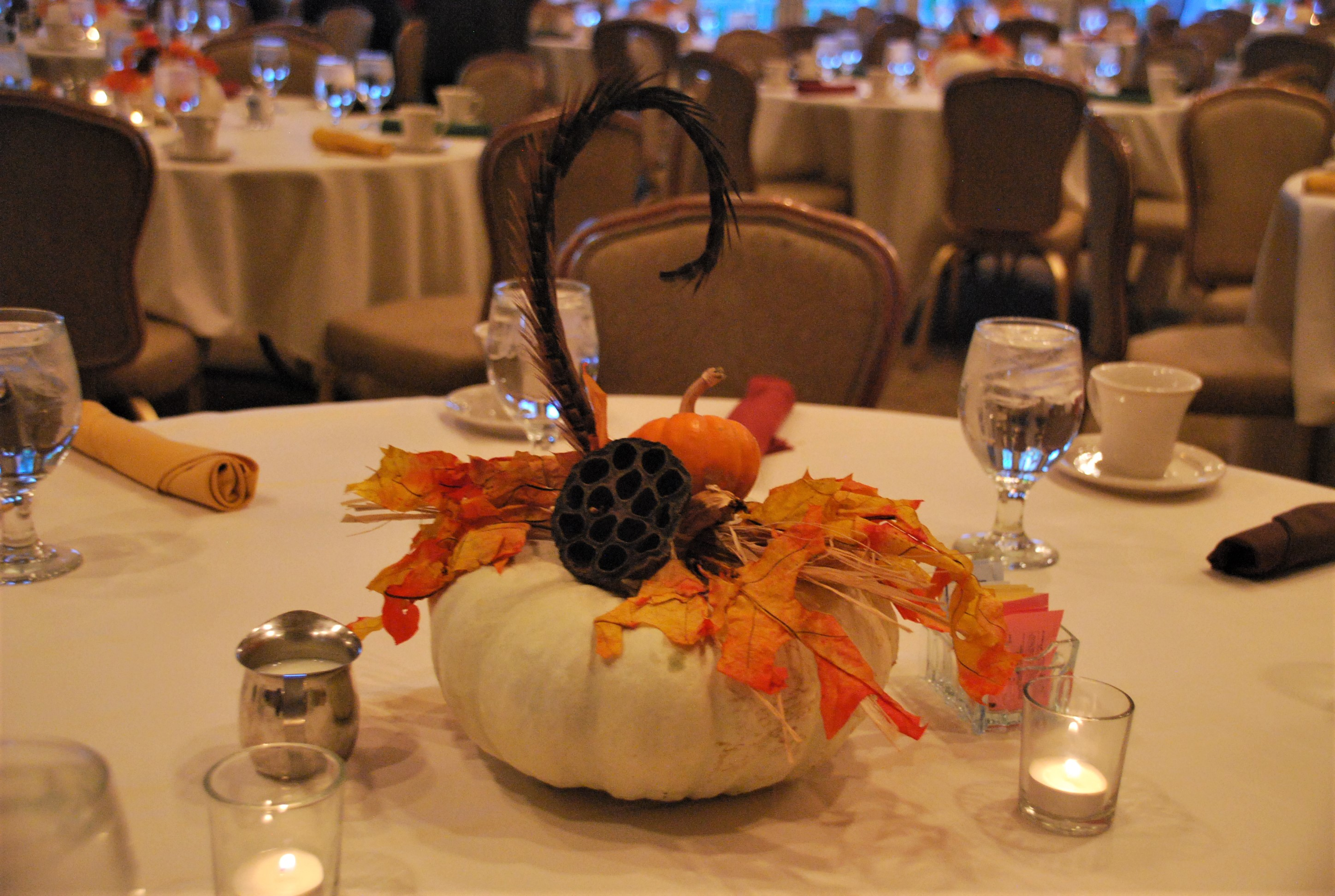 Festive fall centerpiece